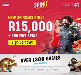 Spinit Casino Mobile Website Screenshot