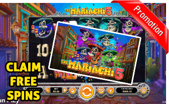 New The Mariachi 5 Slot Play Now With Free Spins Bonuses